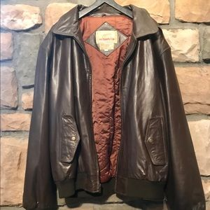 New Accents Leather Bomber Jacket